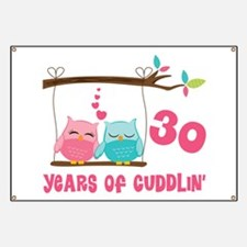 30th Anniversary Owl Couple Banner