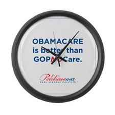 GOPNOCare Large Wall Clock