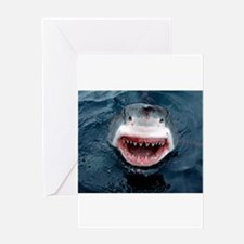Great White Shark Greeting Cards