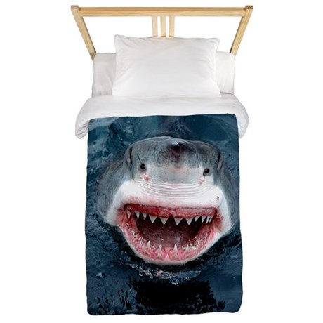 Great White Shark Twin Duvet by DudemanGifts