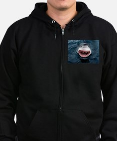 Great White Shark Zip Hoodie