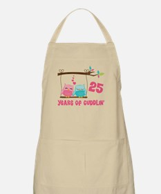 25th Anniversary Owl Couple Apron