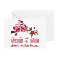 Valentine Couple Owl You And Me Greeting Card