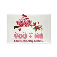Valentine Couple Owl You And Me Rectangle Magnet (