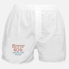 Error 404 Sanity Boxer Shorts