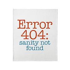 Error 404 Sanity Throw Blanket