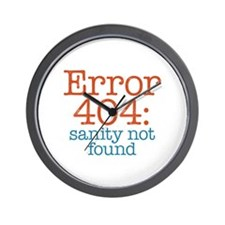 Error 404 Sanity Wall Clock