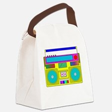 neon radio Canvas Lunch Bag