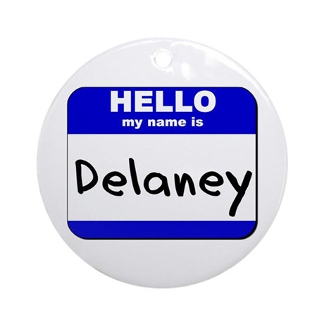 hello my name is delaney Ornament (Round)