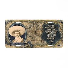 Emiliano Zapata Historical Aluminum License Plate