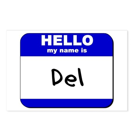 hello my name is del Postcards (Package of 8)