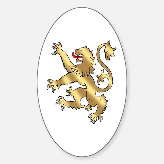 English Lion Rampant Sticker (Oval)