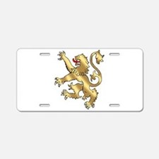 English Lion Rampant Aluminum License Plate