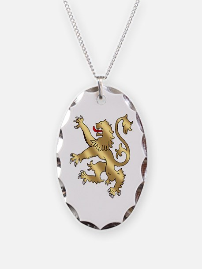 English Lion Rampant Necklace