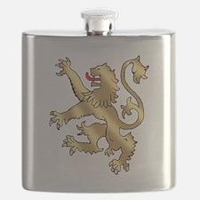 English Lion Rampant Flask