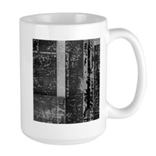 Black White Gray Rustic Old Wooden Texture Mugs