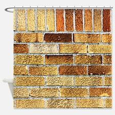 Golden Brown Bricks Industrial Building Pattern Te