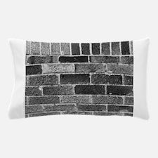 Black White Gray Bricks Industrial Building Patter
