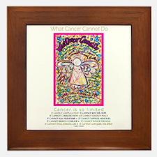 Spring Heart Cancer Angel Framed Tile