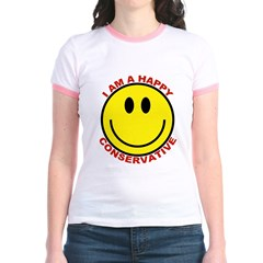 Happy Conservative Ringer T-shirt