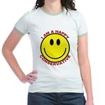 Happy Conservative Ringer T-shirt