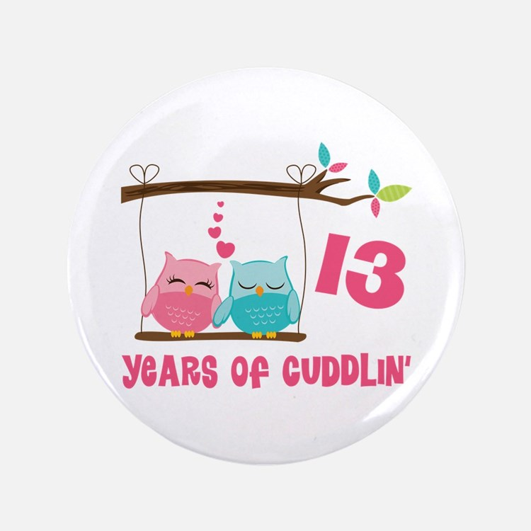 Gift For 13th Wedding Anniversary: 13Th Wedding Anniversary 13th Wedding Anniversary Button