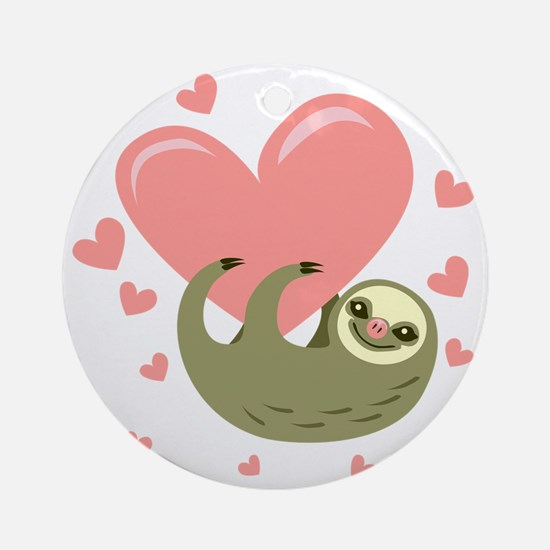 Sloth Round Ornament