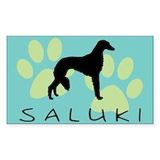 saluki dog Rectangle Decal