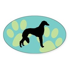 saluki dog Oval Decal