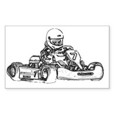 Kart Racing Pencil Sketched Decal