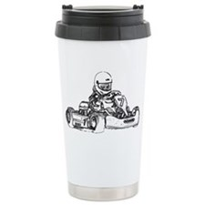 Kart Racing Pencil Sket Travel Mug