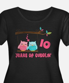 10th Anniversary Owl Couple T
