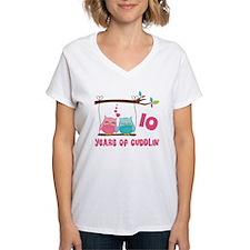 10th Anniversary Owl Couple Shirt