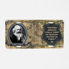 Karl Marx Historical Aluminum License Plate