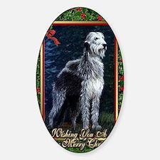 Irish Wolfhound Dog Christmas Decal