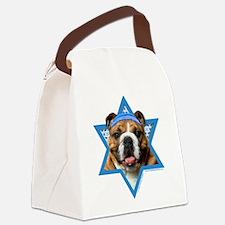 Hanukkah Star of David - Bulldog Canvas Lunch Bag