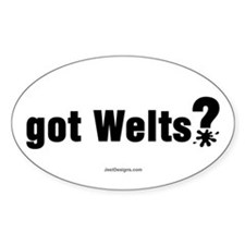Got Paintball Welts Oval Decal