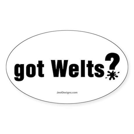 Got Paintball Welts Oval Sticker