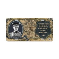 Michael Collins Historical Aluminum License Plate