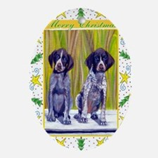 German Shorthaired Pointer Christmas Oval Ornament