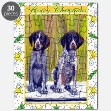 German Shorthaired Pointer Christmas Puzzle
