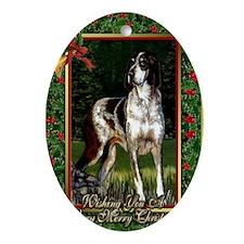Grand Bleu De Gascogne Christmas Oval Ornament