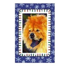 Chow Chow Dog Christmas Postcards (Package of 8)