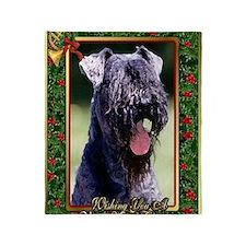 Kerry Blue Terrier Dog Christmas Throw Blanket
