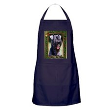 Kerry Blue Terrier Dog Christmas Apron (dark)