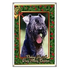 Kerry Blue Terrier Dog Christmas Banner
