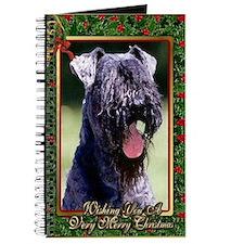 Kerry Blue Terrier Dog Christmas Journal