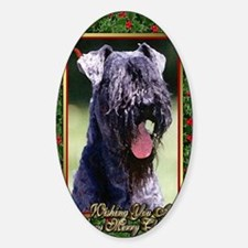 Kerry Blue Terrier Dog Christmas Decal