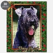 Kerry Blue Terrier Dog Christmas Puzzle