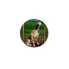 Redtick Coonhound Dog Christmas Mini Button